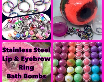 Lip & Eyebrow Ring Bath Bombs, Free Shipping in the U.S.A.