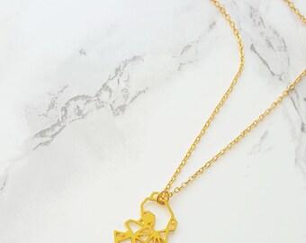 Origami koala necklace, Geometric koala necklace, Gold KOALA, Tiny koala, animals necklace, Bear necklace, Origami necklace, gift under 30