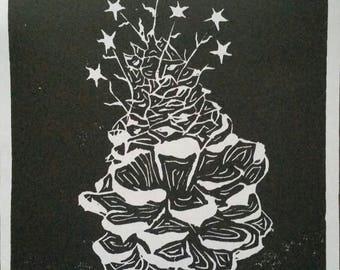 Pinecone Print (B&W, clean print)