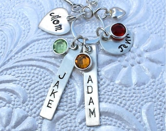 Personalized Infinity -Key to My Heart - Mom/Grandma/Nana/Couple Sterling Silver Necklace