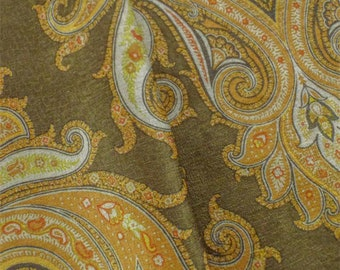 MultiP Kaufmann Paisley Print Chenille Decorating Fabric, Fabric By The Yard