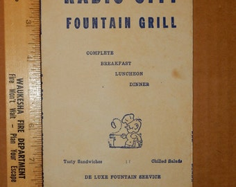 1940's Radio City Fountain Grill - 1499 North Vine, Corner Sunset. California