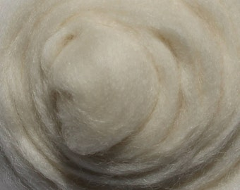 WHITE Merino Wool Roving 1/4oz, 1/2oz or 1oz