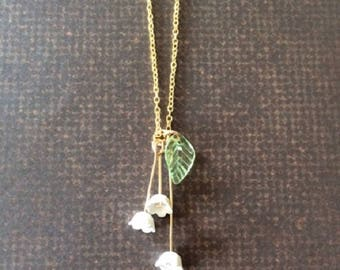 Lily of the Valley - Lilly of the Valley Jewelry - Lily of the Valley Necklace - Floral Jewelry - Lily Necklace - Wedding Jewelry - Necklace