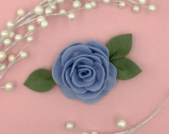 Periwinkle pink Jumbo Single Rose headband OR clip