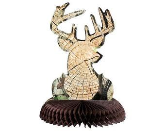 Buck Centerpiece/  Lumberjack  /Lumberjack party/ Lumberjack / woodland party/ Barn theme/barn/ camo /camouflage