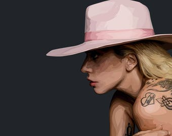 Lady Gaga Illustration