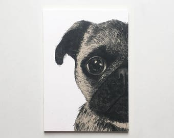 Pack of 3 Pug Notepads / Pug Notebooks / Pug Jotters