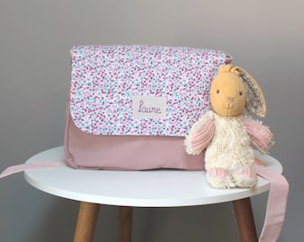 Cartable enfant, cartable maternelle, cartable fille, cartable liberty, sac à dos maternelle, sac personnalisé, cartable tissu