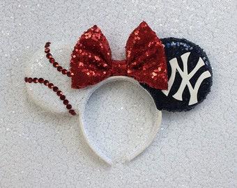 New York Yankees Mickey Mouse Ears Headband Sport minnie mouse ears