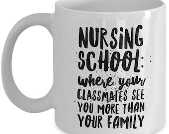 Funny Student Nurse Coffee Mug - Nursing School Mug - White 11oz Ceramic Gift Cup For Student Nurses - Nursing School Gift