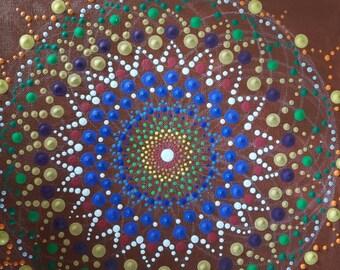Dot painting sacred geometry