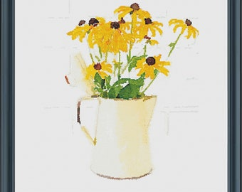 Watercolor Black-Eyed Susans