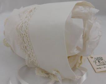 Handmade Vintage Newborn Baby Handkerchief Bonnet   (B)