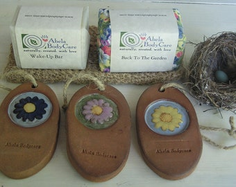 Natural Clay Pumice Stone and Mint Soap Set for Women or Men Happy Feet