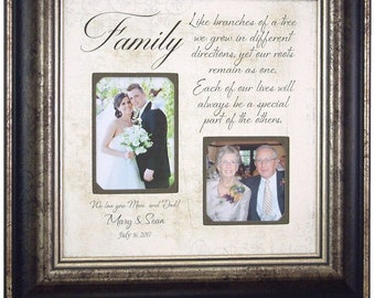 Personalized Wedding Picture Frame, Personalized Photo Frame for Parents, 16x16