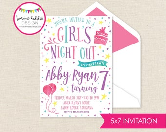 Girls Night Out Birthday Invitation, Girls Night, Girls Night Out Birthday, Girls Night Out Birthday Decorations, Lauren Haddox Designs