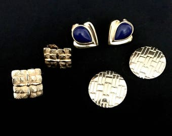 Three pairs of Vintage 60s Earrings   GJ2848