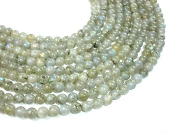 Labradorite Beads, 6mm Round Beads, 15 Inch, Full strand, Approx 63 beads, Hole 1mm (295054021)