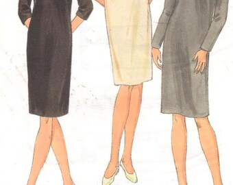 "Kwik Sew 2833, Sz 8-22/XS-XL/Bust 31.5-45"".  Sheath Dress with back zipper w/ 3 necklines & 3 sleeve variations, Kerstin Martensson pattern"