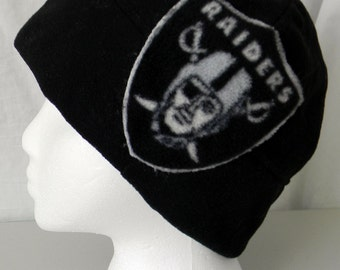 Raiders Fleece Beanie Available in Black or Gray