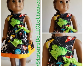 Cats from OuterSpace Dress American Made 18 Inch Doll Clothes