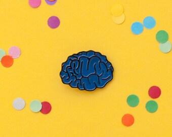 Anatomical brain enamel pin