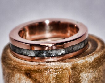 Copper Inlay Ring