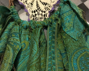 Green Hippy Pashmina Dreamcatcher