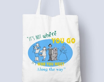 Wizard Of Oz Cotton Tote Bag, Wizard of oz gifts, Shopping Bags From Rooby Lane