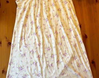 Spring colors nightgown with blueberries and purple daisies