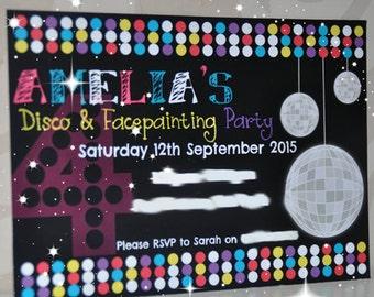 Disco Party, Invitation, Disco Party Invitation, Birthday, Party, Disco, Invite, Dance Party, Disco Invitation, Dance Invitation, Disco Ball