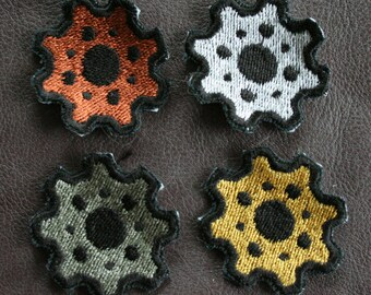 Steampunk Gear Embroidered Patches