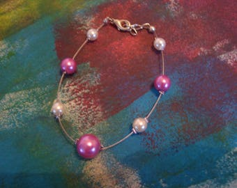 Fancy handmade pink and white