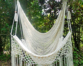 Macrame large hammock chair butterfly party. Fast shipping.