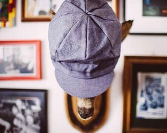 Cycling cap blue denim