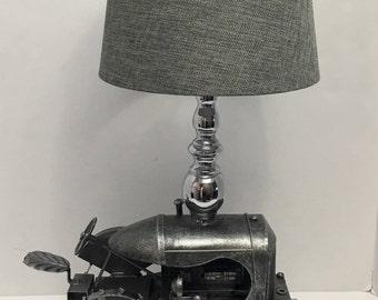 Metal Tractor Lamp
