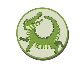 Crocodile Button