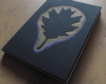 Oak leaf handbound book A5