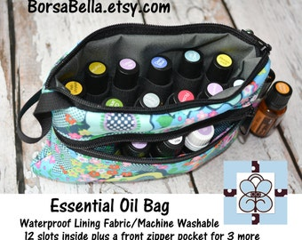 Essential Oil Bag - Essential Oil Pouch - Oil Bags - Waterproof lining fabric -YOU PICK FABRIC