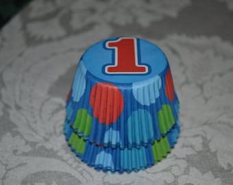"50 ""1"" Cupcake Party Standard Cupcake Liners/Cupcake Liners/Cupcake Liners/Cupcake/Liners/One Cupcake Liners"