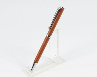 Fine ballpoint pen with chrome lux newline exotic wood
