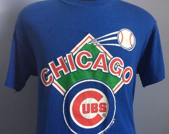 80s Vintage Chicago Cubs 1988 mlb baseball T-Shirt - LARGE