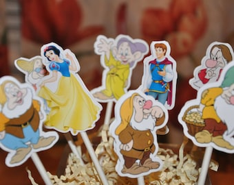 Snow White Cupcake Toppers Set of 12
