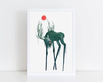 Elk of Hiisi - Giclée art print