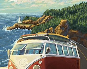 Big Sur, California - VW Coastal Drive (Art Prints available in multiple sizes)