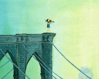 Print of Fiddler on the Bridge