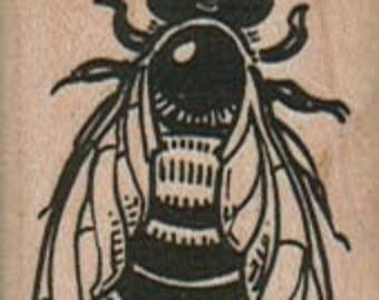 Rubber stamp  Bumble bee     wood Mounted  scrapbooking supplies number 1917