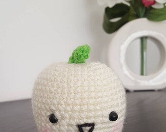 Apple crochet fruit amigurumi toy