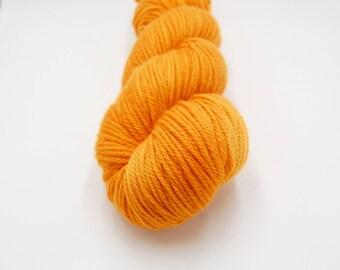Merino Worsted Hand Dyed Yarn - California Poppy